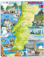 Map of Portugal, with Pictures - Frame/Board Jigsaw Puzzle 29cm x 37cm (LRS  K71-PT)